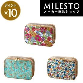 【milesto】【安心の公式ショップ】リバティプリント ダブルラゲッジオーガナイザー S【hopping marche】ミレスト MILESTO/旅行/花柄/ホッピングマルシェ【直営】