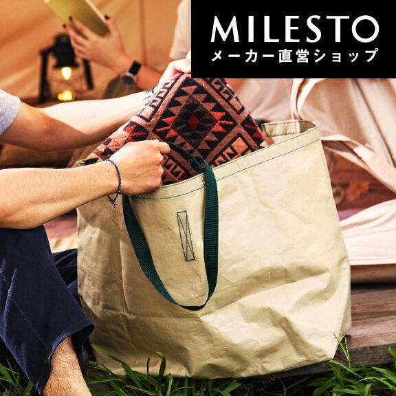 【直営】<MILESTO UTILITY>PE トートバッグL/ミレスト MILESTO/PEバッグ 資材バッグ アウトドア