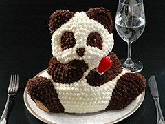 マイルストーン パンダケーキ【バースデーケーキ 誕生日 キャラクター パンダケーキ マイルストーンパンダケーキ 立体ケーキ デコレーションケーキ パーティー】