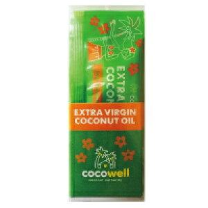 ココウェル ココナッツオイル エキストラバージン スティックタイプ 7g×7袋 最新の低温エクスペラー法を採用したココナッツオイル 旅行 オイルプリング プレゼント 個包装 中鎖脂肪酸65%