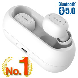 【楽天1位】QCY T1 Bluetooth イヤホン ワイヤレスイヤホン bluetooth5.0 完全ワイヤレス ブルートゥース イヤホン bluetooth ヘッドホン イヤホン 自動ペアリング 高音質 カナル 両耳 片耳 マイク付き 長時間 通話 防水 マグネット スポーツ スマホ iPhone Android 対応