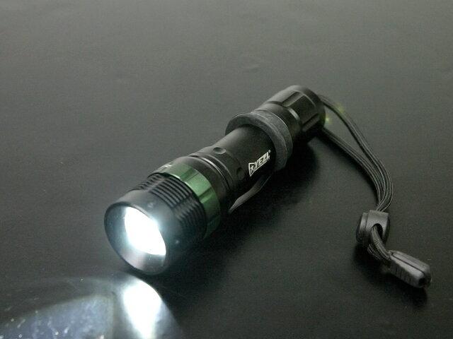 【250ルーメン!】 YEZL T7 CREE Q5 LEDズームライト★タクティカルライト/フラッシュライトや非常用に