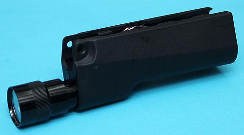 【170ルーメンLEDライト付】G&P GP-TAL002 MP5 LEDフラッシュライト付きハンドガード BK★各社MP5シリーズ 検)VFC KSC KING ARMS