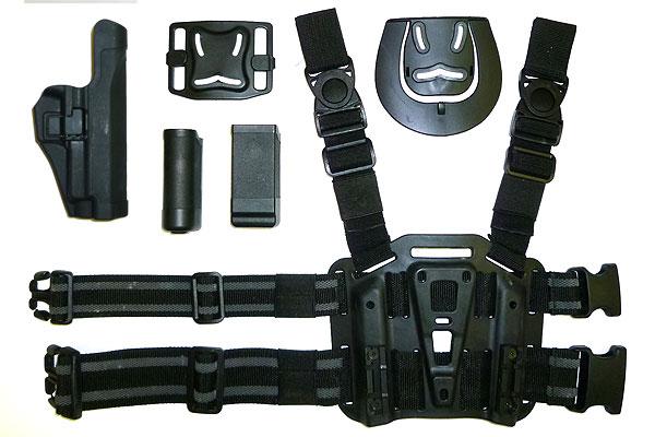 多彩な付属品!IMTH CQBホルスターセット P226 右足用/BK(ブラック)/プラットホーム/ハンドガン