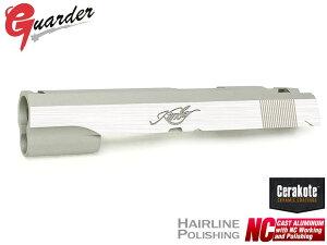 CAPA-25C(K)■GUARDER Hi-CAPA5.1 NCアルミスライド KIMBER(Dual Silver Ver)◆Cerakote シルバー + ヘアラインポリッシュ