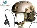 Z-TACTICAL COMTAC2ヘッドセット+U94タイプPTT(KENWOOD用)+OPS CORE CARBONEタイプ ヘルメット+ARCレールアダプ...