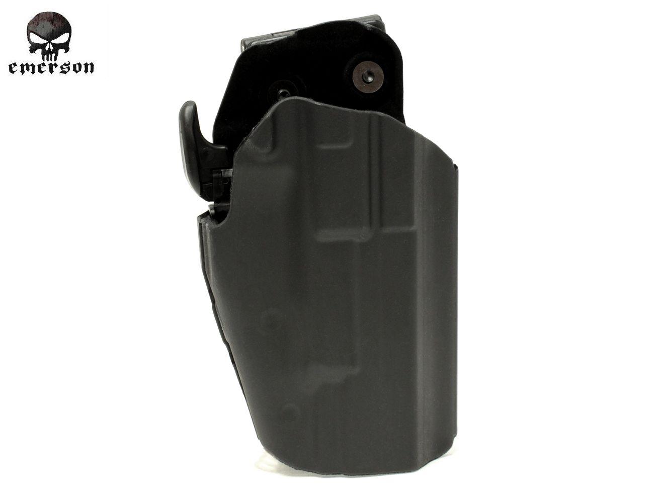 EMERSON GEAR 579 GLS PRO-FIT ホルスター◆BK エマーソンギア タクティカルホルスター ハンドガン対応 シーソー式トリガーロック採用 シム付 P226 HK45 M1911