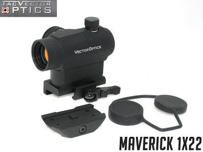 VECTOROPTICSMaverick1x22マイクロドットサイト◆実銃対応ダットサイト高精度20mmレール対応高さ調整可超高輝度11段階調整可簡単脱着曇り防止仕様