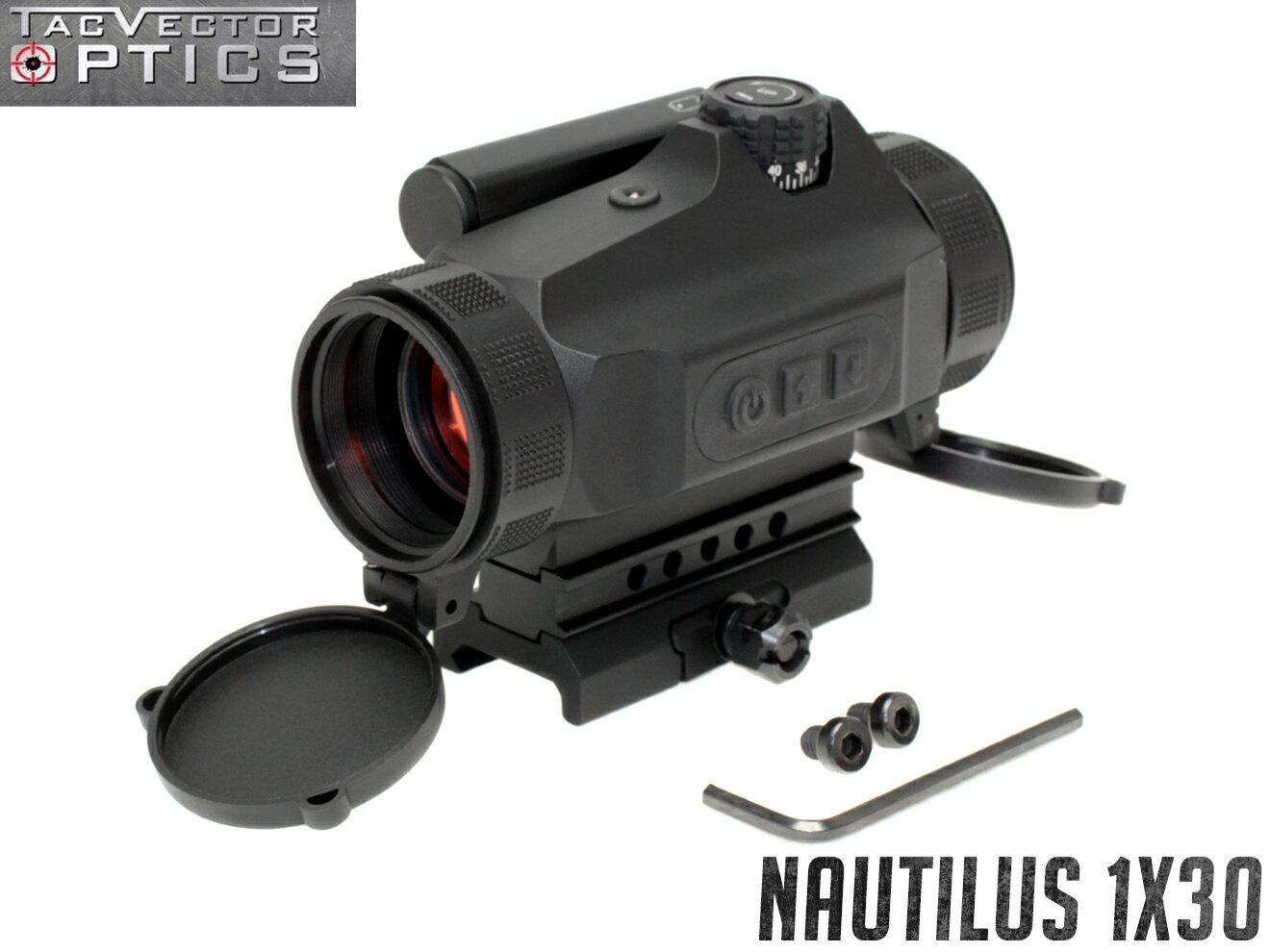 VECTOR OPTICS Nautilus 1x30 レッドドットサイト◆実銃対応 光学サイト 輝度調整可 切り替え式自動調光 20mmレイル対応 耐衝撃 生活防水 マルチコートレンズ