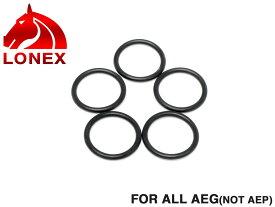 LONEX AEG ピストンヘッド用 Oリング◆各社電動ガン ノーマルボア仕様のピストンヘッド用Oリング 破損や劣化時の交換 リペアに 5個セット