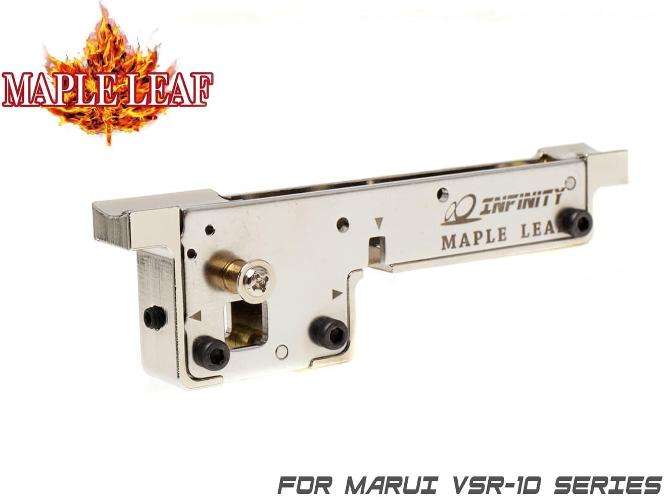 Maple Leaf VSR-10 スチールCNCトリガーボックス◆高精度 トリガーハウジング 東京マルイ VSR-10対応 強度アップ スチール削り出し メイプルリーフ製 メッキ処理