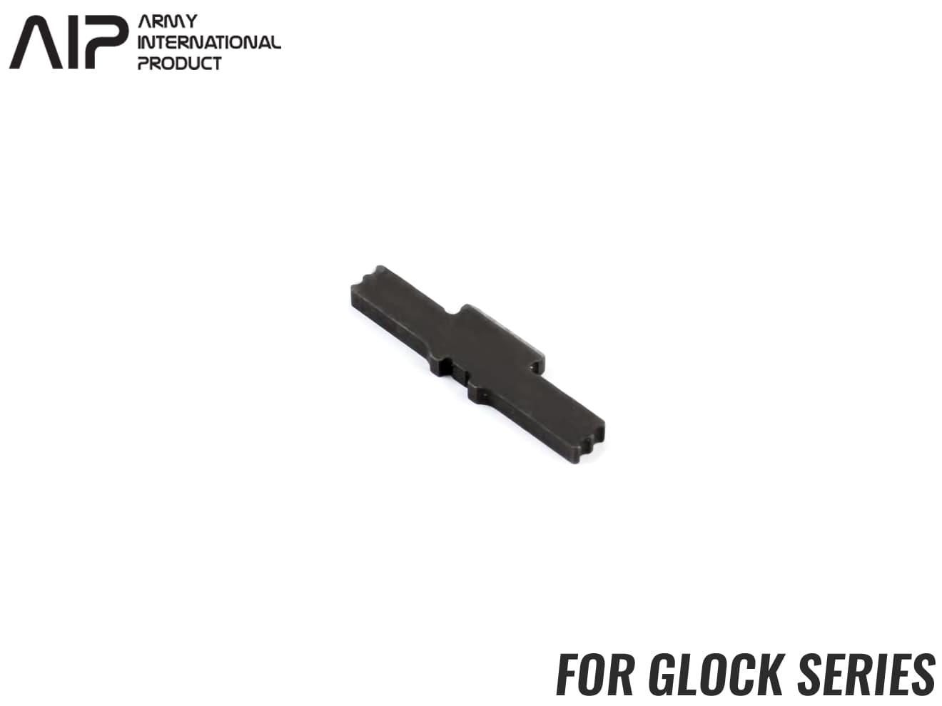 AIP 強化スチールスライドロック GLOCK◆東京マルイ GBB グロック シリーズ対応 スライドストッパー 焼入れ リアルな質感 耐久性向上 G18C