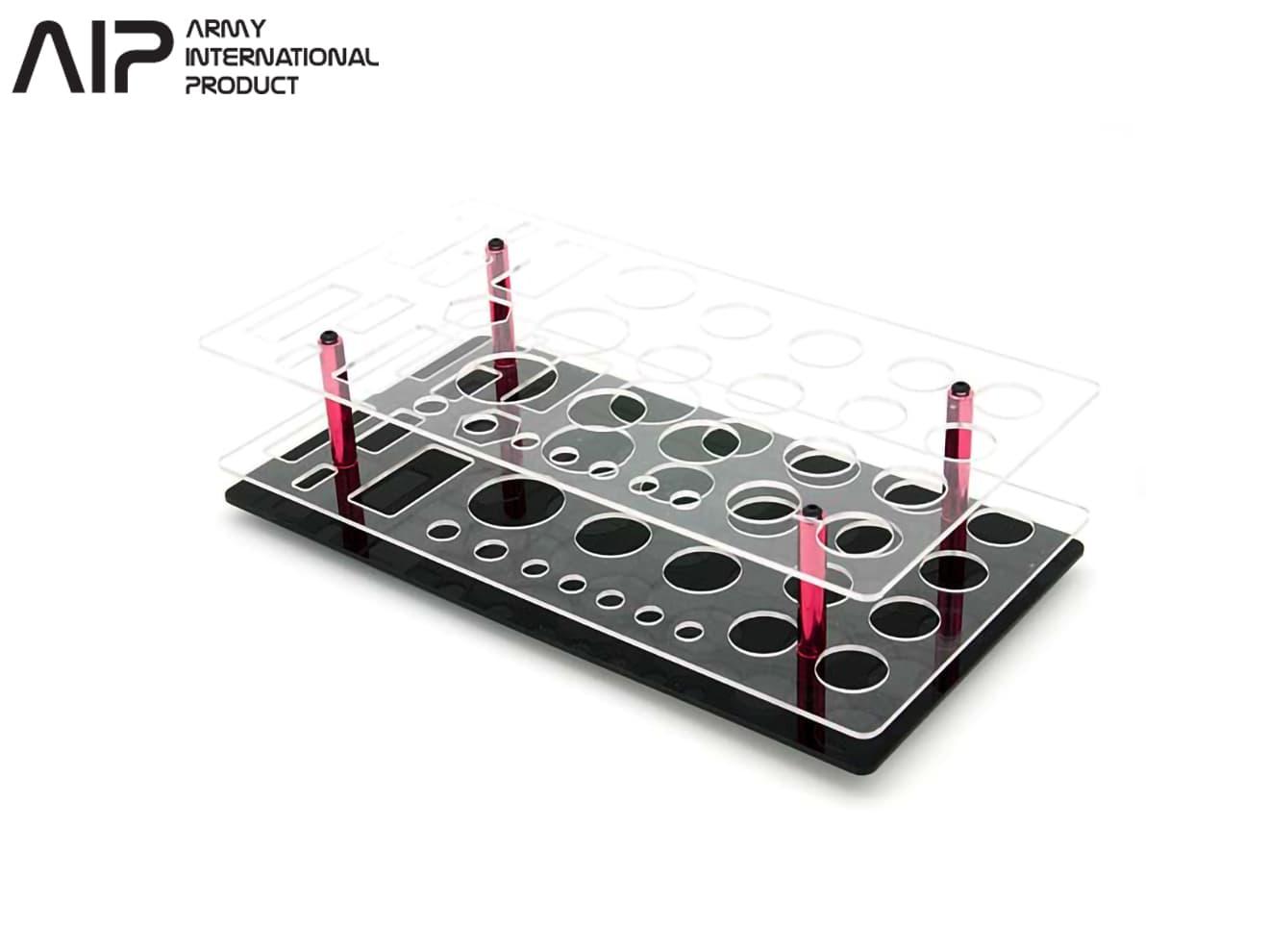 AIP アクリルツールスタンド◆トイガン 電動ガン 整備 工具立て ツールボックス ツールスタンド 工具箱 ガンの整備 ドライバー用スタンド