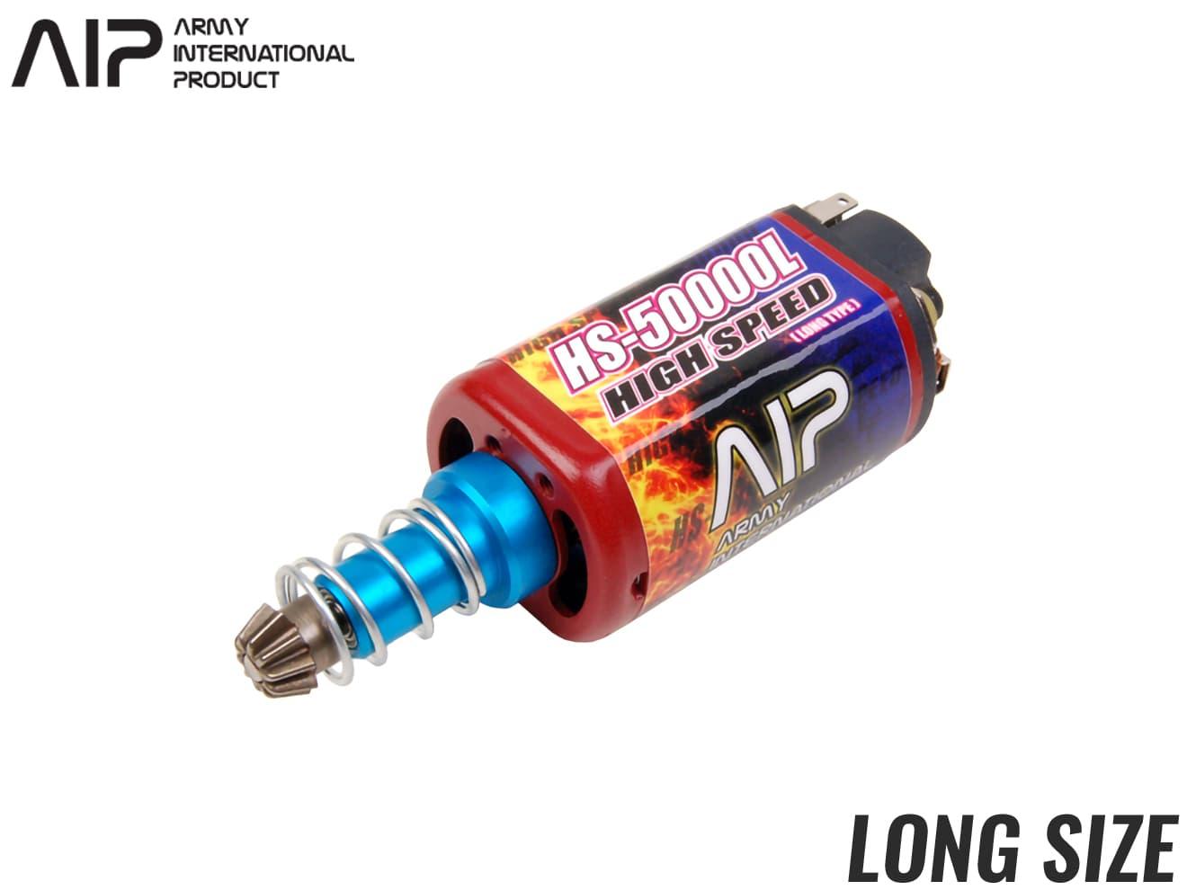AIP ハイスピードモーター HS-50000 ロングサイズ◆各社電動ガン ロングサイズモーター機種に適合 理論回転数50000RPM 超ハイサイ仕様に