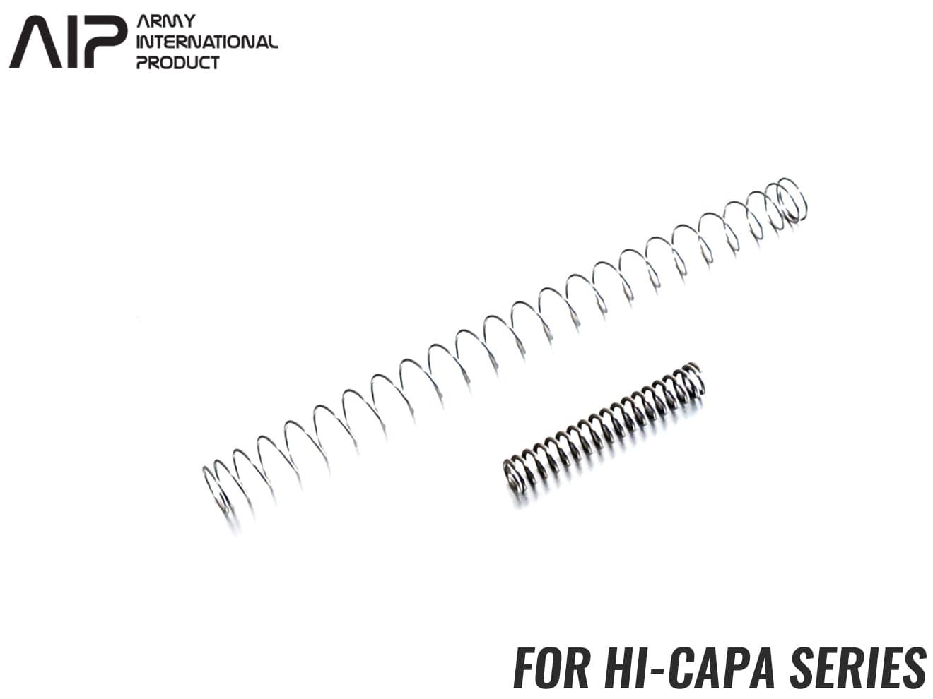 AIP 100% 強化リコイルスプリング/ハンマースプリング Hi-CAPA◆東京マルイ GBB ハイキャパ 4.3/5.1シリーズ用 ヘタリ対策 純正同等レート