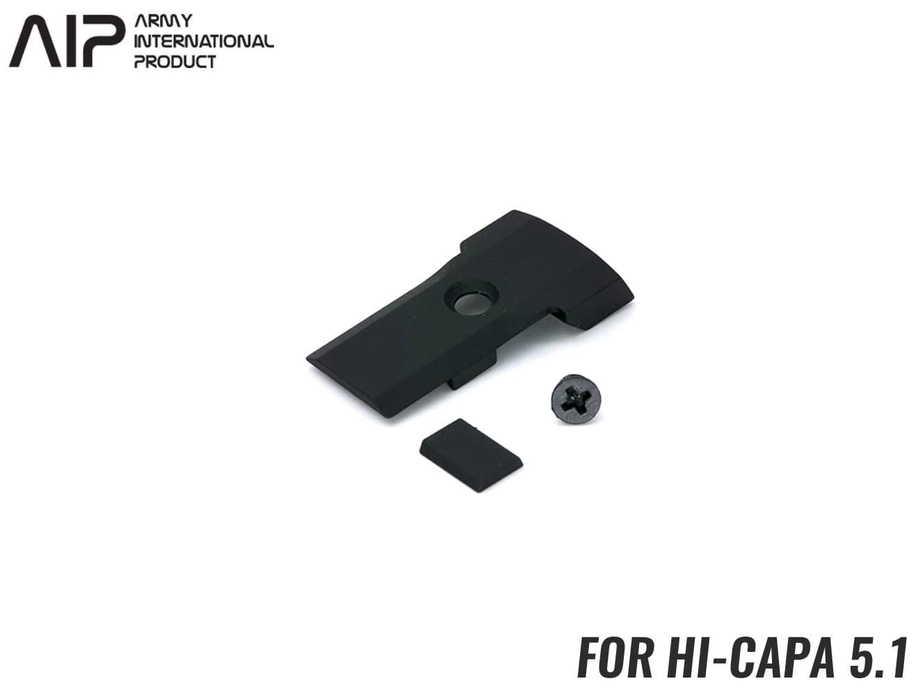 AIP CNC サイトカバー Hi-CAPA5.1◆BK 東京マルイ GBB ハイキャパ5.1対応 スライドカバー スライドの軽量化 アルミ削り出し GOLDマッチ