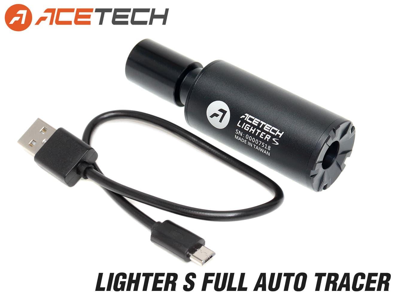 90日保証&日本語取説付 ACETECH LIGHTER S フルオートトレーサー◆XT301対抗!外径27mmスーパーコンパクトサイズ SMGやハンドガンに