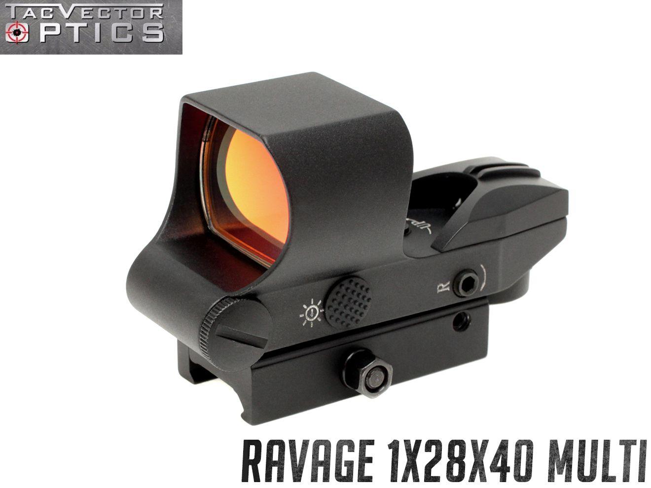 VECTOR OPTICS Ravage 1x28x40 マルチレティクル レッドドットサイト◆ラベージ ベクターオプティクス ダットサイト サバゲー 近接 CQB