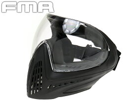 FMA F1 フルフェイスマスク シングルレイヤークリアレンズ◆BK サバイバルゲーム フェイスマスク フルタイプ プロテクター 防具 コスプレ