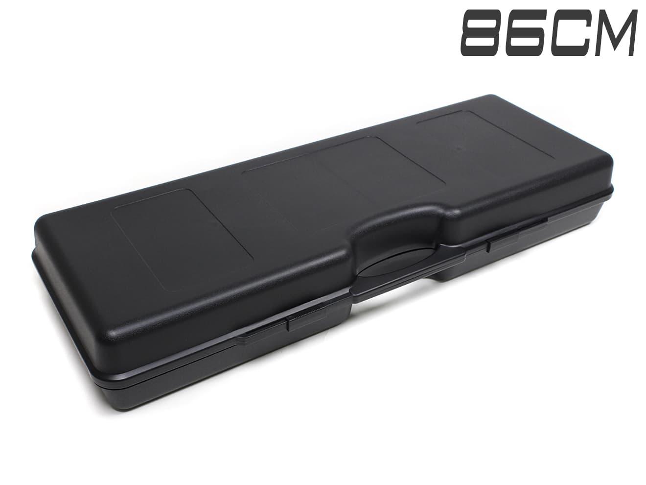 【軽量ハードケース】MILITARY-BASE(ミリタリーベース)ABS ライフル キャリングハードガンケース ワイド 86cm BK◆内部に波型スポンジ搭載/大切なガンの運搬に!