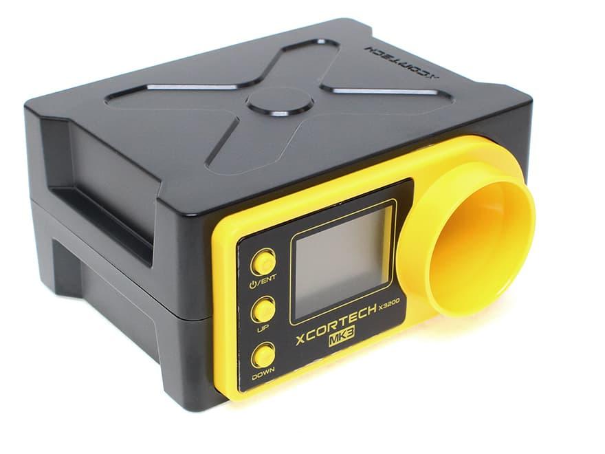 【90日保証付き/完全解説日本語取説付き】XCORTECH X3200Mk3 弾速計/BK◆MicroUSB typeBに対応/サイクル測定可能/ショットメモリー機能搭載/カメラ三脚対応