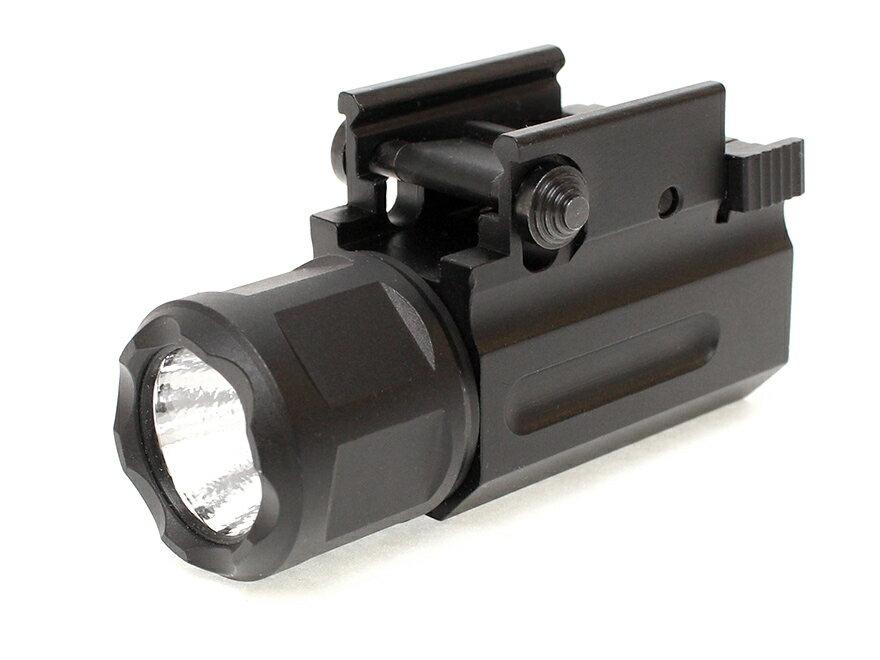 【フルアルミボディ/軽量&頑丈】X3000タイプ QD LED ウェポンライトGen2/BK◆ハンドガン用設計/20mmレール対応/高輝度LEDライト