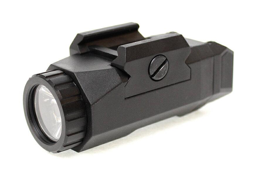 【スマートデザイン/高輝度LED搭載】INFORCEタイプ ポリマーウェポンライト/BK◆ハンドガンにピッタリ♪軽量/近中距離向き/フラッシュライト