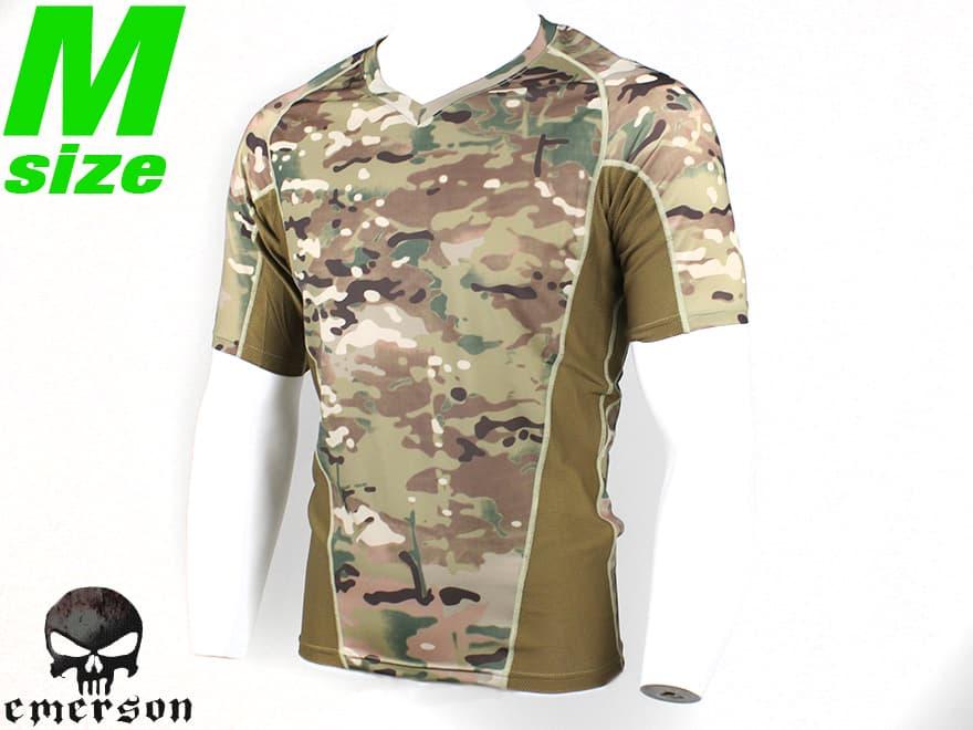 【スパンデックス+ドライメッシュ】EMERSON GEAR タイトフィット コンバット T-シャツ V2 M-size/MC◆サバゲに!コンシャツ/マルチカム迷彩/練習着