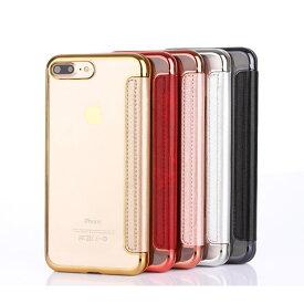 iPhoneX iPhoneXS iPhone8 iPhone8 Plus iPhone7 iPhone7 Plus iPhone6 iPhone6s iPhone6 Plus iPhone6s Plus iPhone5 iPhone5s iPhoneSE 手帳型ケース カードホルダー付き 背面クリア