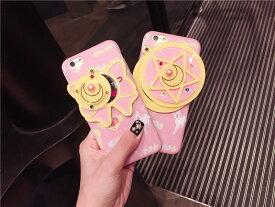 セーラームーン iPhone7 iPhone8 iPhone7 Plus iPhone8 Plus iPhone6 iPhone6s iPhone6 Plus iPhone6s Plus対応ハードケースケース 鏡付き ブルーライトカットガラスパネル
