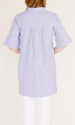 授乳服マタニティ安い可愛いお買い得半額以下クリアランスセールシャンブレーピンタックチュニック在庫一掃在庫処分在庫限り