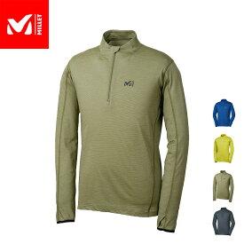 【公式】 ミレー (Millet) クータイ ウール ジップ ロングスリーブ KUHTAI WOOL MIV01666 / 登山用ベースレイヤー あす楽