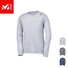 【公式】 ミレー (Millet) ウールボーダー Tシャツ ロングスリーブ WOOL BORDER MIV01761 あす楽