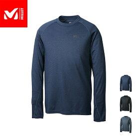 【公式】 ミレー (Millet) キャスター ウール クルー ロングスリーブ CASTOR WOOL MIV01807 / 登山用ベースレイヤー あす楽
