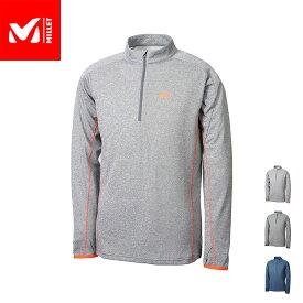 【公式】 ミレー (Millet) アイラ ジップ ロングスリーブ EIRA M MIV01808 / 登山用ベースレイヤー あす楽
