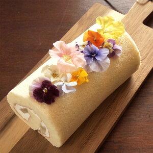 バースデーケーキ ロールケーキ フラワー 花 スイーツ ギフト わらび餅 入り 白いロールケーキ送料無料 誕生日ケーキ かわいい おしゃれ 花とスイーツ デザート グルメ お菓子 おもしろ 珍
