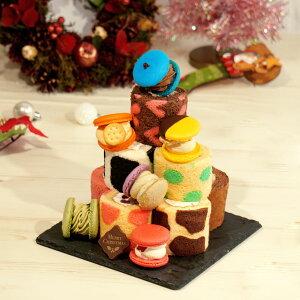 マカロン トゥンカロン ロールケーキ ミニロール クリスマス 送料無料 2点セット 韓国マカロン 太っちょ マカロン 韓国 スイーツ クリスマスケーキ 2020 早割 ギフト かわいい スイーツ ケー