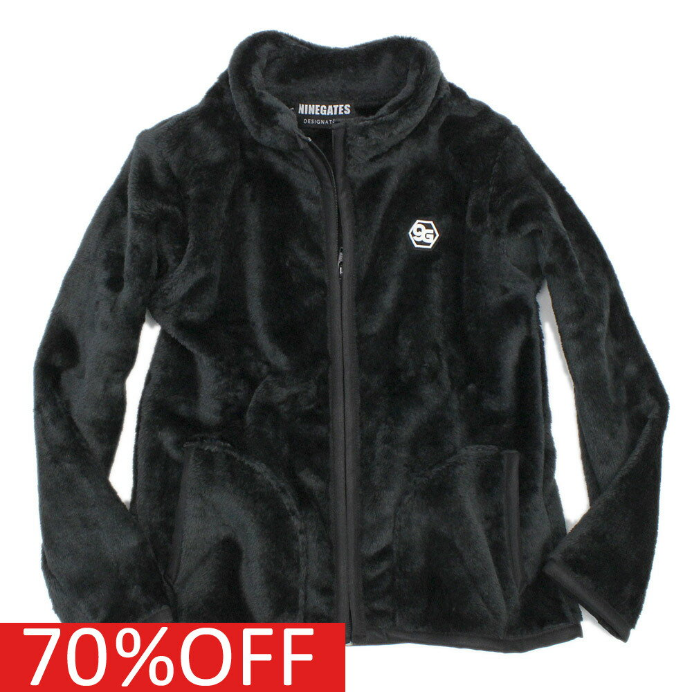 【子ども服/子供服/NINE GATES/ナインゲイツ】 セール 【50%OFF】 フリースジャケット ブラックa49a118a