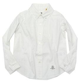 【スムージー SMOOTHY 子供服】 オックスボタンダウンシャツ ホワイトa240a