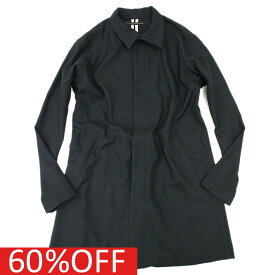 【TALKING ABOUT THE ABSTRACTION/メンズ/トーキングアバウト】 セール 【60%OFF】 Soutien Coller Coat ブラックa118a174a