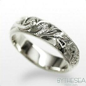 結婚指輪 刻印無料 誕生石ハワイアンジュエリー リング 指輪 刻印無料 誕生石 大きいサイズ 送料無料 オーダーメイドリング マリッジリング ネーム レディース メンズ ハワジュ WB4C-E ミリオンベル 夏