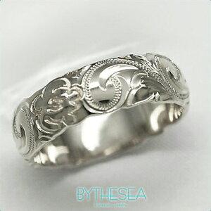 結婚指輪 刻印無料 誕生石ハワイアンジュエリー リング 指輪 刻印無料 誕生石 大きいサイズ 送料無料 オーダーメイドリング マリッジリング ネーム レディース メンズ ハワジュ WB6A-A ミリオ
