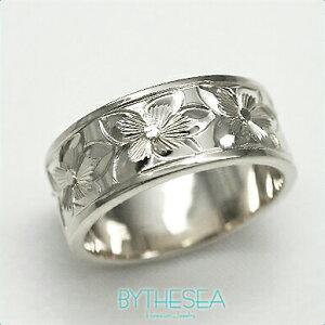 結婚指輪 刻印無料 誕生石ハワイアンジュエリー リング 指輪 刻印無料 誕生石 大きいサイズ 送料無料 オーダーメイドリング マリッジリング ネーム レディース メンズ ハワジュ WF8D-B ミリオ