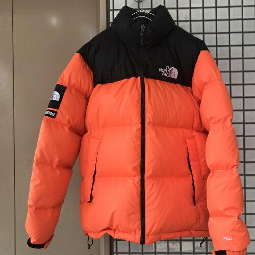 2016AWSupreme×The North Faceシュプリーム×ザ ノースフェイスNuptse Jacket ヌプシ ダウンジャケット Power Orange オレンジ【中古品】【送料無料】【1804】【0416】
