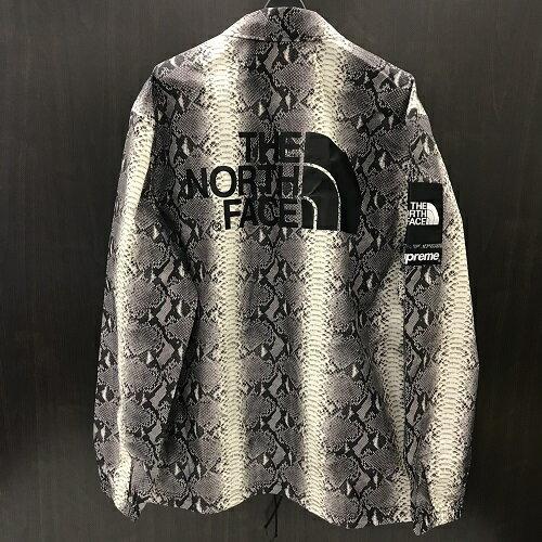 Supreme×The North Faceシュプリーム ノースフェイス18SS Snake Taped Seam Coaches Jacket コーチ ジャケット ブラック カラー:Black サイズ:L【新古品】【送料無料】【1807】【0724】