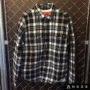 16AWSupreme シュプリームPile Lined Plaid Flannel Shirtパイル フランネルシャツBLACK/ブラック サイズ:M【未使用...