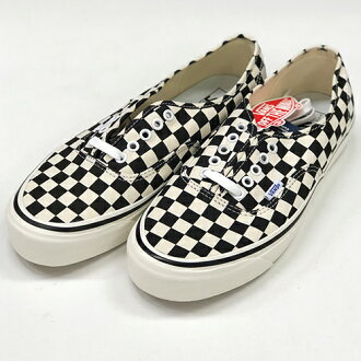 08e03c87f994 AMBER Rakuten Ichiba Shop  VANS vans checkerboard authentic Anaheim  Authentic 44 DX ANAHEIM VN0A38ENOAK check black and white sneakers shoes  28.0cm ...
