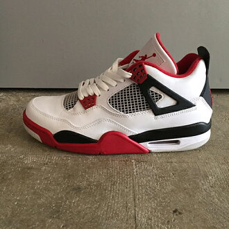 huge selection of 1fe13 abd00 AMBER Rakuten Ichiba Shop  NIKE AIR JORDAN 4 RETRO WHITE VARSITY RED BLACK  Nike air Jordan 4 nostalgic 308,497-110   Rakuten Global Market