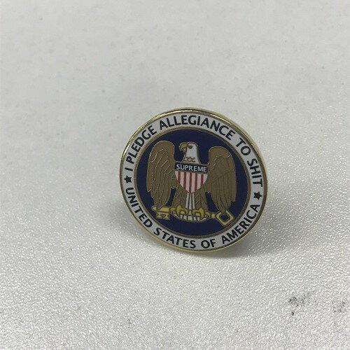 SupremeシュプリームPledge Allegiance Pin ピンズカラー:ゴールド サイズ:FREE(直径 2.2cm)【中古】【1808】【0809】