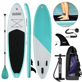 SUPインフレータブル スタンドアップパドルボード SUPボード-LEAGUE&CO積載重量140-160kg 安定性抜群 滑り止め ヨガ 釣り マリンスポーツ 海